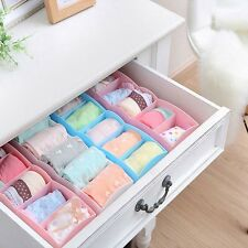 5 Cell Underwear Bras Sock Ties Organizer Storage Box Desk Drawer Closet Plastic