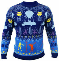 Official Fortnite Floss Dance Balloon Drop Knitted Christmas Jumper Sweater NEW
