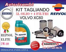 KIT TAGLIANDO VOLVO XC60 2.0 D4 133KW- 4 FILTRI + 5L OLIO REPSOL 5W40