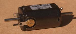 Mashima 1624 12v DC 5 pole motor - 16mm wide x 24mm long - Dual shaft