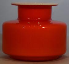 Holmegaard variegati Series Red/Orange Spice Jar Denmark glass design Michael Bang