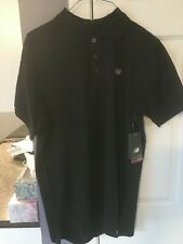 NWT!! MEN'S NEW BALANCE ESSENTIAL CASUAL POLO SHIRT - BLACK - MET0380