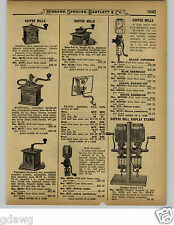 1929 PAPER AD Crystal Wall Mount Store Display Board Coffee Mill National Eagle