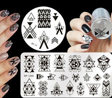 4pcs/set Born Pretty Geometry Theme Nail Art Stamping Plates  Template