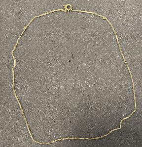 Echt Gold 333 Kette Massiv Schmuck 42cm