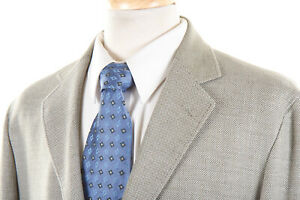 LUCIANO BARBERA Sport Coat 44 R in Sage Green Jacquard Cotton-Wool Unstructured
