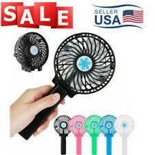 Mini Portable Fan Handy Fan Handheld Fan Air Cooler USB w/ Battery Rechargeable