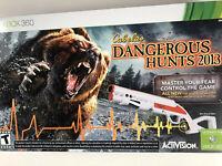 XBOX 360 Cabela's Dangerous Hunts 2013 Bundle w/ Gun NEW SEALED (READ DETAILS!!)