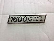 FREGIO SIGLA TARGHETTA EMBLEMA PER FIAT 132 1600 AUTOMATIC CLIMATIZZATA DAL 1972