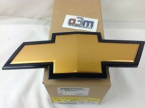2007-2013 Chevrolet Silverado Front Grille Gold / Black Bow Tie Emblem new OEM