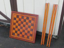 Hand Crafted Folk Art Game Table Checker Board