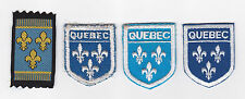 SCOUTS OF CANADA -  CANADIAN SCOUT QUEBEC PROVINCIAL DISTRICT Patch (4 VAR)