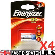 4 Energizer Litio Cr123 Cr123a 123 Foto Batería De 3v