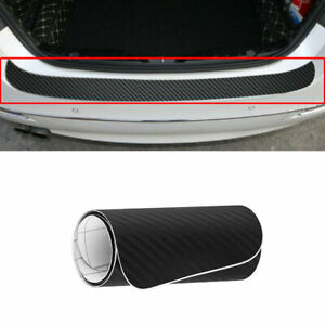 Carbon Fiber PVC Car Rear Bumper Edge Protector Corner Trim Sticker Accessories