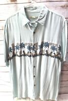 Batik Bay Rayon Large Sea Green Men's Shirt