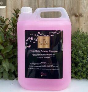 5 Litre Baby Powder professional dog shampoo. clean, fresh, grooming. Pawfume