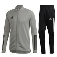 Adidas Fußball Condivo 20 Trainingsanzug Jacke Hose Herren grau schwarz
