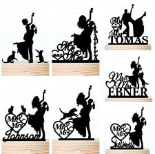 Drunk Bridal Wedding Cake Topper Bride and Groom Silhouette Cake Decoarations