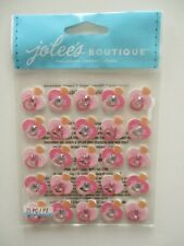 JOLEE'S BOUTIQUE STICKERS - Pink Glitter Pacifier Repeats - baby girl