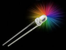 S500 - 10 Stück RGB LED 3mm langsamer Lichtwechsel Regenbogen Farbwechsel