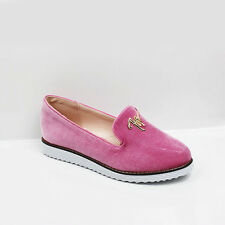 WOMENS LADIES LOW WEDGE HEEL CASUAL SLIP ON LOAFERS PUMPS SHOES SIZE 3-8
