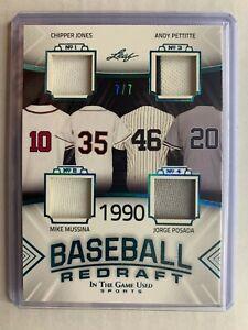 2020 Leaf ITG Used CHIPPER JONES PETTITTE MUSSINA POSADA /7 Patch Yankees Braves