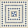 QUILT TOP KIT~Moda REGENCY BLUES fabric~78 BY 78 IN~BY CHRISTOPHER WILSON TATE