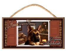 German Shepherd Paws on the Windowsill A House is Not a Home Dog Sign