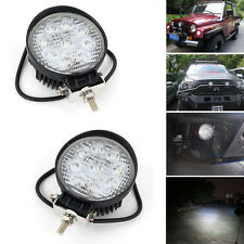 2x 27W 4inch Round LED Work Light Spot Fog Lamp Boat Truck Jeep Offroad Cart Car