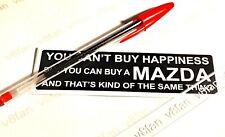 "#179 ""MAZDA HAPPINESS"" - sticker for RX7 MX5 MIATA SILVIA SA22 XEDOS"