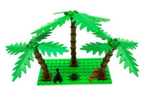 Lego® 3 Palmen 2518 2566 2536 2563 grün groß klein Schlange Scorpion Spinne