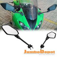 Black Motorcycle Bike Rearview Side Mirrors For Kawasaki Ninja 650R 2009-2013