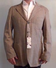 NWT SCOTT JAMES, Light Brown, Herringbone Weave, Wool Blend, Size 46-L 2XL (129)