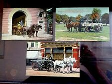 Vintage Post Card LOT York PA Fire Department Horse Drawn Wagons Union