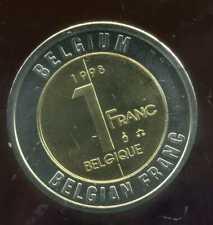 BELGIQUE 1 franc    monnaie européenne, Universel Bimétallique jeton