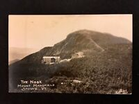 RPPC c1920's Mount Mansfield, Stowe, VT. Vintage Panoramic Real Photo Postcard