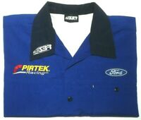 FORD PIRTEK SIZE XXL STONE BROTHERS RACING SHIRT BLUE W/POCKET FREE POSTAGE