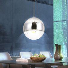 Design Decken Pendel Hänge Lampe Leuchte Chrom Glas Kugel Ess-Wohn Büro Zimmer