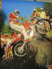 POSTER 4 PAGES AUTO : TRIAL MOTO LUIS GALLACH + DEPART MOTO