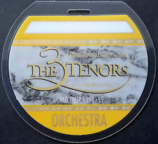 THE 3 TENORS -- LAMINATED BACKSTAGE PASS - 1998 & 1999 Tour w/ LUCIANO PAVAROTTI