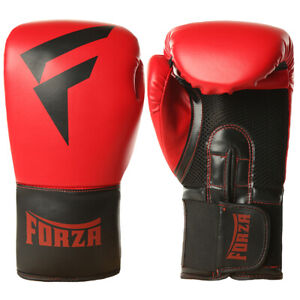 Forza Sports Vinyl Boxing Training Gloves - Red/Black