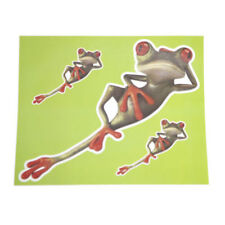 3 LARGE Laying Frog Decals/Stickers-Funny/Cute-for Wall/Car Etc-Vinyl/Waterproof