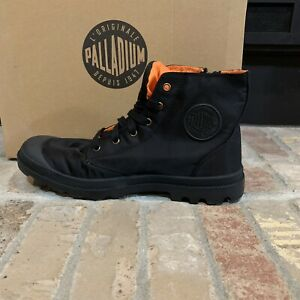*NEW IN BOX*PALLADIUM HI Zip MA-1 Men's BLACK/ORANGE Boots US 12