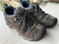 Keen Men's Army Green Hiking Trail Outdoor Shoes Size 9.5 010717 Blue Accents