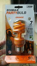 Lot of 2--60W Orange Energy Saving FEIT CFL Bulb  13W=60W  7 Year 8000 Hr. Life