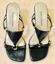 Naturalizer Black Heeled Sandal Shoes Size 5M ~3 Inch Heel