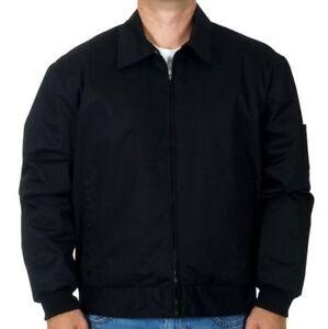 Men' Work Jacket Mechanic Style Zip Jacket Black JH Work Brand New SALE L & 3X