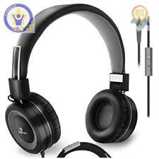 Sonitum Ear Headphones Microphone Wired Head Phones Volume Control Computer