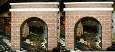 O GAUGE TUNNEL PORTALS / Model Railroad Layout /Scenery O Scale Trains- Set of 2
