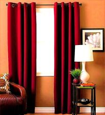 "2 PANEL SET GROMMET THERMAL LINED BLACKOUT WINDOW CURTAIN DRAPE 55"" WIDE K60"